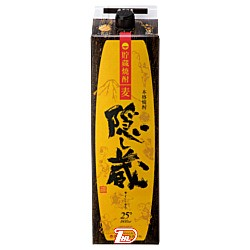 【2ケース】隠し蔵 〈麦〉 25度 濱田酒造 1.8L(1800ml) パック 6本入×2