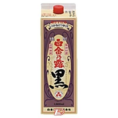 【2ケース】白金乃露 黒 芋 25度 白金酒造 1.8Lパック 6本×2ケース