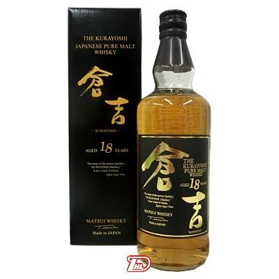 【1本】国産 ピュアモルトウィスキー 倉吉 18年 50度 松井酒造 700ml