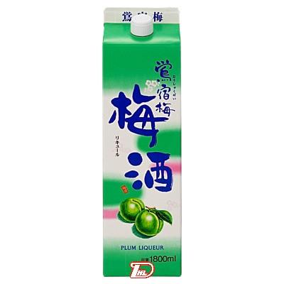 【2ケース】鴬宿梅 梅酒 合同酒精 1.8L(1800ml) パック 6本×2