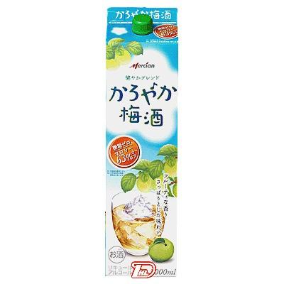 【2ケース】かろやか梅酒 メルシャン 2.0L(2000ml) パック 6本×2