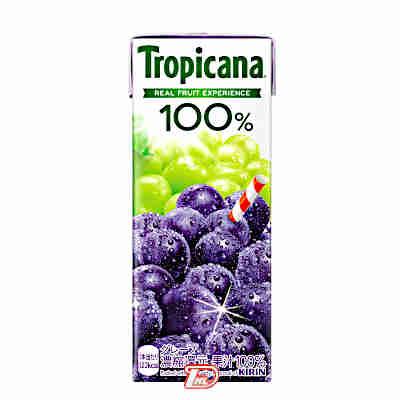 【3ケース】トロピカーナ100% グレープ キリン 250ml紙パック LLスリム 24本入×3