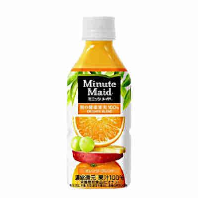 【3ケース】ミニッツメイド 朝の健康果実100% オレンジブレンド コカコーラ 350ml ペット 24本×3