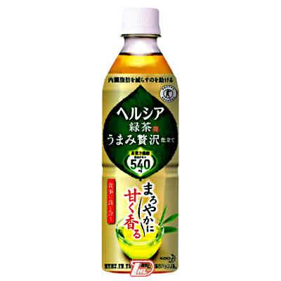 【2ケース】ヘルシア うまみ緑茶贅沢仕立て 花王 500ml ペット 24本入×2