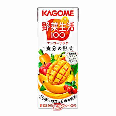 1ケース 野菜生活100 マンゴーサラダ カゴメ パック 登場大人気アイテム 200ml ギフ_包装 24本入