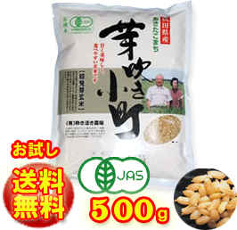 Grain germination Brown rice organic rice and Bud Komachi (500 g): Akita Komachi health, beauty, diet!