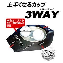 ネコポスなら送料210円 パター練習機 上手くなるカップ 人気の定番 3WAY 買い物