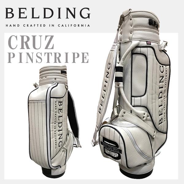 ベルディング キャディバッグクルーズ ネイビー ピンストライプ 8.5型 BELDING CRUZ PINSTRIPE HBCB-850098