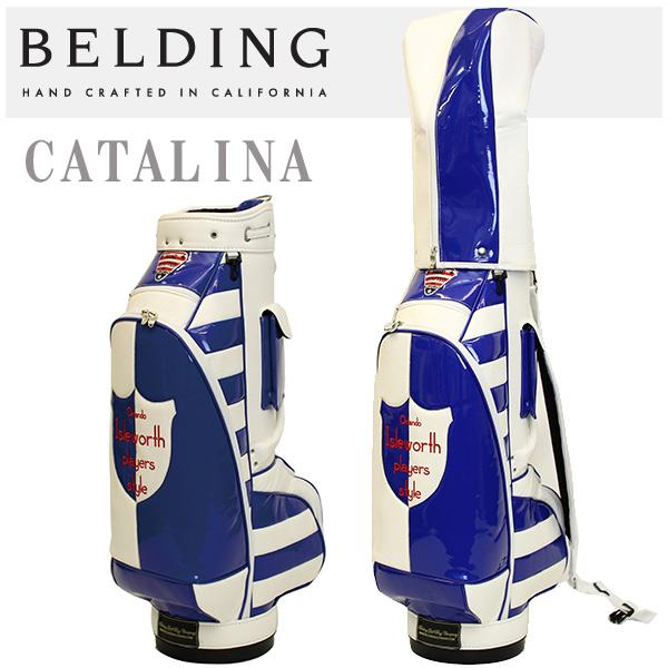 ベルディング キャディバッグ カタリナ 8.5型ボーダー&ディビジョン ホワイト・ロイヤルBELDING HBCB-850033