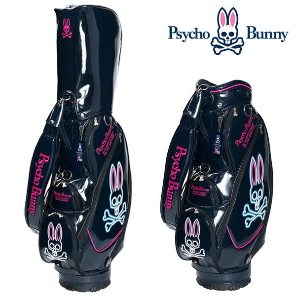 サイコバニー キャディバッグ ネオン 9型Psycho Bunny A/A FLAG NEON PBMG7FC1 あす楽