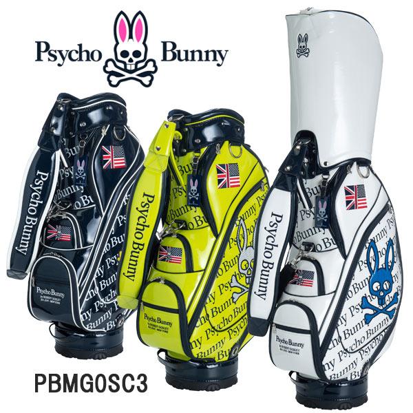 サイコバニー ニューネオン キャディバッグ オールエナメル Psycho Bunny GOLF BAG NEW NEON CB -ALL ENAMEL- PBMG0SC3
