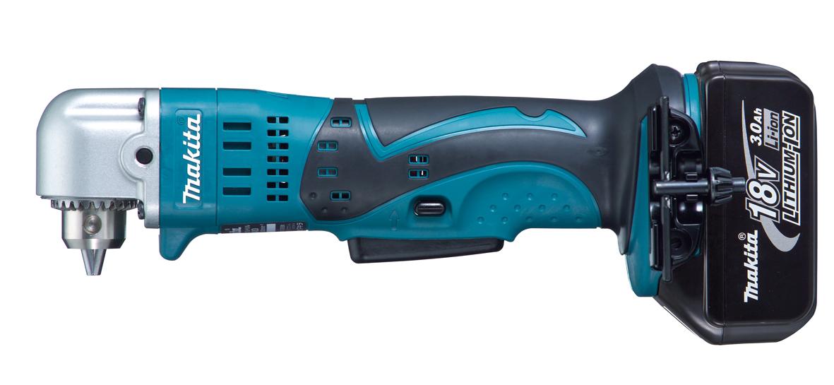マキタ 18Vアングルドリル 青 DA350DRF バッテリ(3.0Ah)1個 充電器1個 ケース付き 〈鉄工10mm、木工25mm〉