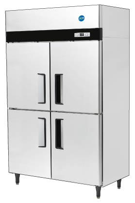 業務用 JCM省エネ タテ型冷凍冷蔵庫 2ドア冷凍2ドア冷蔵庫 JCMR-1280F2-I 厚型 大容量タイプ 100ボルド仕様