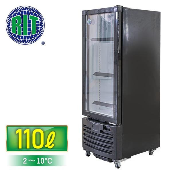 タテ型冷蔵ショーケース RITS-110 LED照明 4輪キャスター付【送料無料】【東京都補助金対象商品】