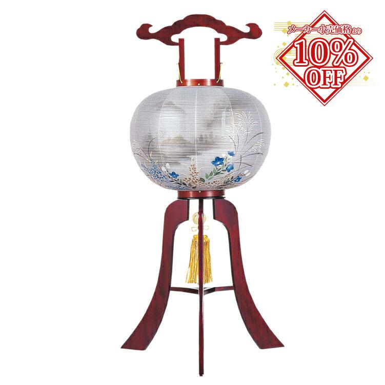 メーカー小売価格より15%割引 盆提灯 盆ちょうちん お盆提灯 飛印 本桜 高96cm (1356) 【smtb-TK】1804a020a