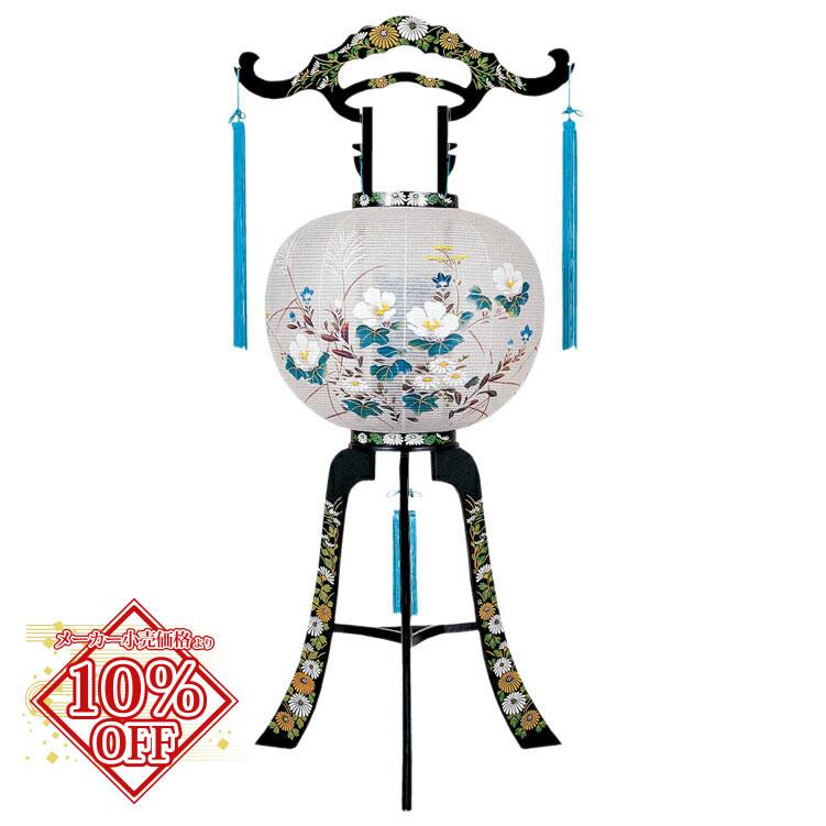 メーカー小売価格より15%割引 盆提灯 盆ちょうちん お盆提灯 回転 石谷 高95cm (2365) 1804a042a
