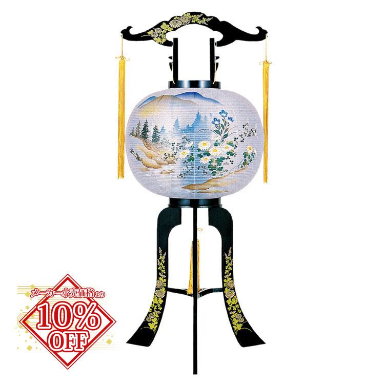 盆提灯 盆ちょうちん お盆提灯 回転 やまかぜ 高88cm (2423) 1804a048a