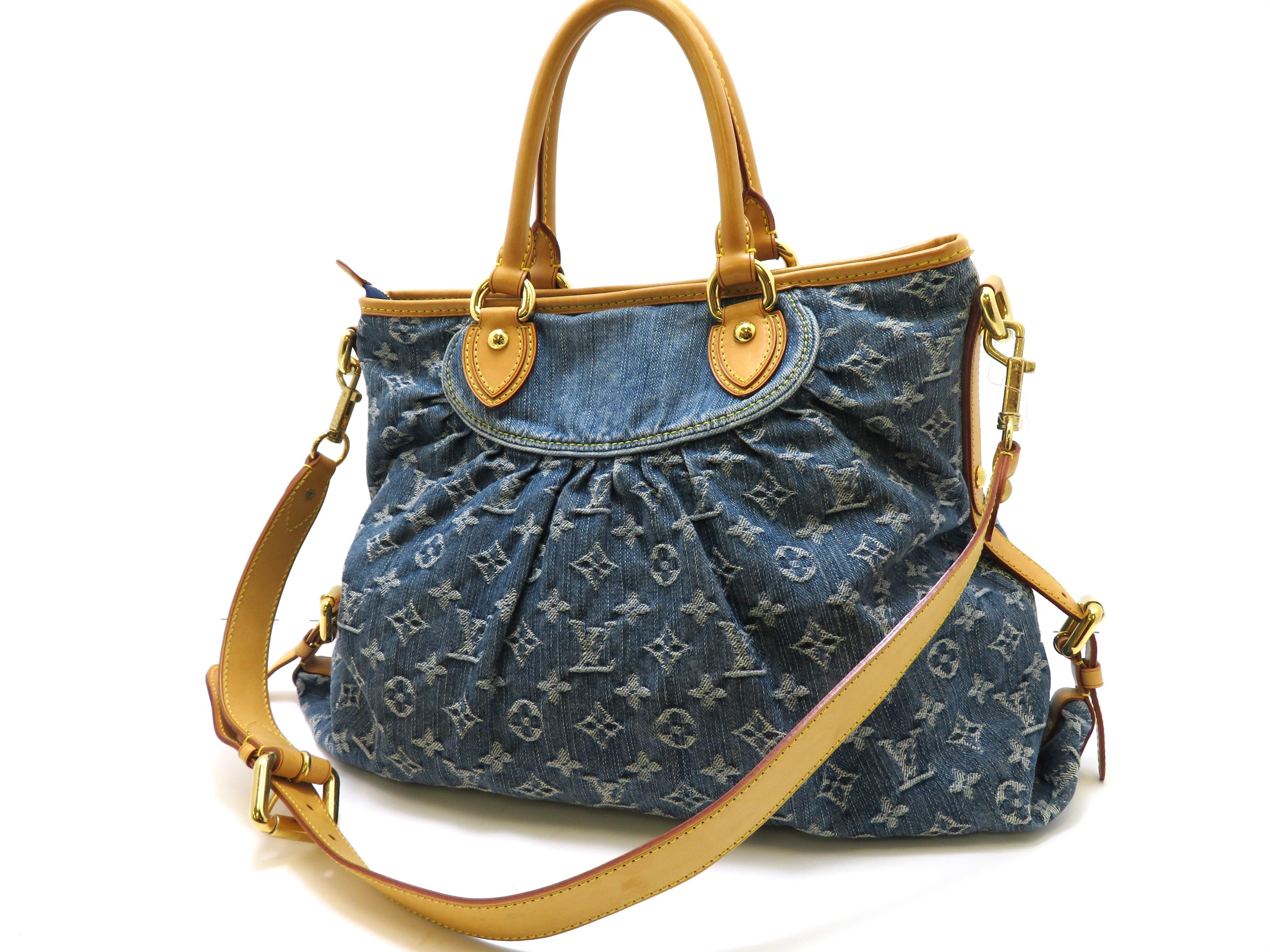 直送商品 Louis Vuitton Louis ルイ・ヴィトン ネオ・カビイMM モノグラム デニム ブルー 【472】【】【大黒屋】, むせんや:cec56eaf --- ceremonialdovesoftidewater.com