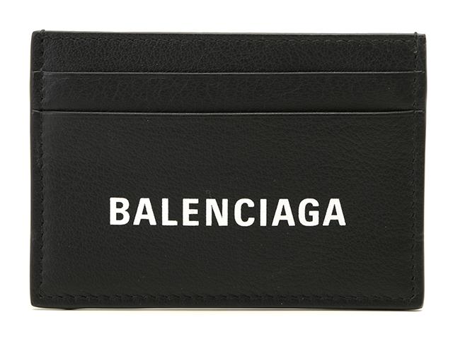 中古ブランド品なら老舗の質店 質屋大黒屋 BALENCIAGA バレンシアガ エブリディカードケース ブラック ホワイト 中古 431 [宅送] カーフ 期間限定特別価格 大黒屋