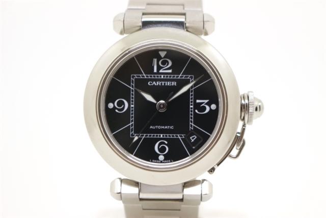 【送料無料】Cartier カルティエ 時計 パシャC W31076M7 ブラック ステンレススチール 自動巻き レディース 【203】【】【大黒屋】