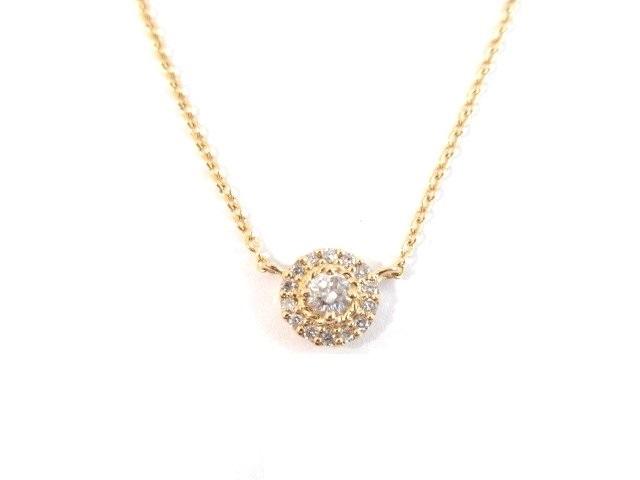 ESTELLE エステール K18 ネックレス ダイヤモンド 1.8g【413】【中古】【大黒屋】