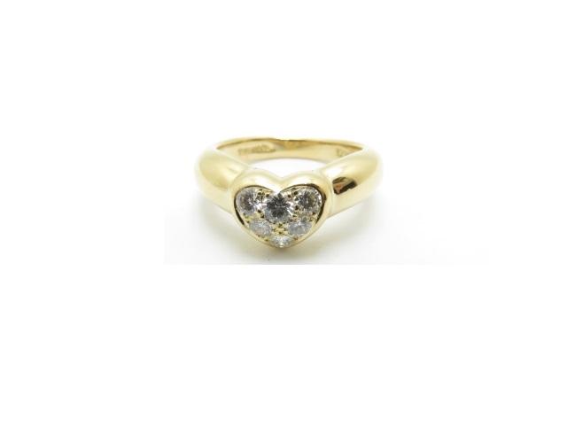 【送料無料】TIFFANY&CO ティファニー ハートダイヤモンドリング YG 約4.0g 8号【413】【中古】【大黒屋】
