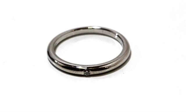 【送料別】BVLGARI ブルガリ リング指輪 フェディグリフリング 1PD プラチナ950 ダイヤモンド 47号【430】【中古】【大黒屋】