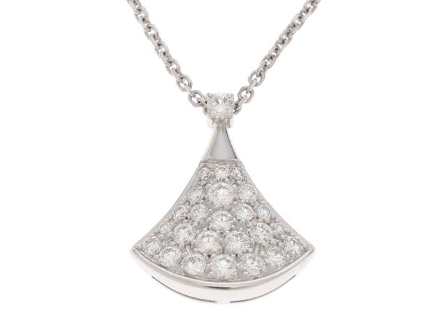 BVLGARI ブルガリ ディーヴァドリーム ホワイトゴールド ダイヤモンド ネックレス WG D 【433】【中古】【大黒屋】