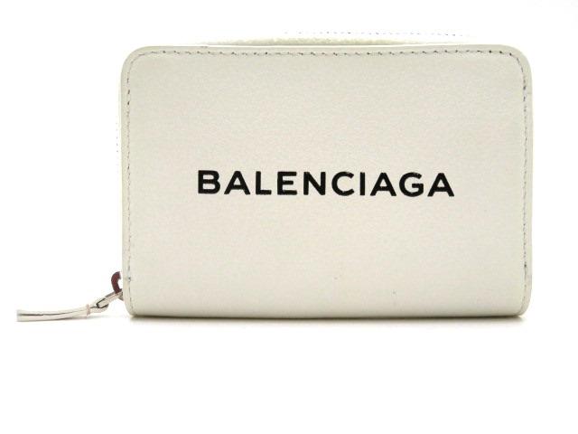 BALENCIAGA バレンシアガ コインケース レザー ホワイト 505049【472】【中古】【大黒屋】