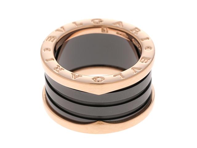 【送料無料】BVLGARI ブルガリ B-zero1リング ビーゼロワン 指輪 PG セラミック Mサイズ 51号 【460】【中古】【大黒屋】