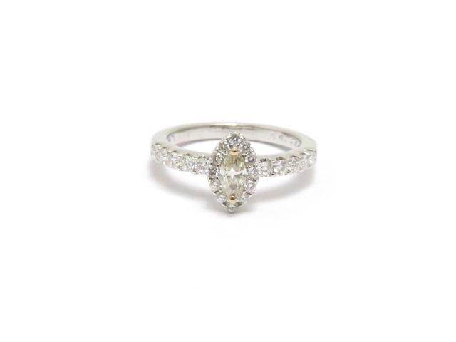 JEWELRY ノンブランドジュエリー K18YG K18WG ダイヤモンド リング 12.5号 【433】【中古】【大黒屋】