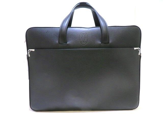 [送料無料]Cartier カルティエ ブリーフケース ビジネスバッグ ブラック L1001945 MY【472】【中古】【大黒屋】
