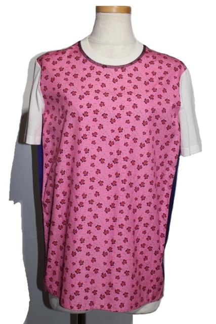【200】【中古】【大黒屋】 コットン レディースXS トップス プラダ Tシャツ ピンク PRADA 半袖