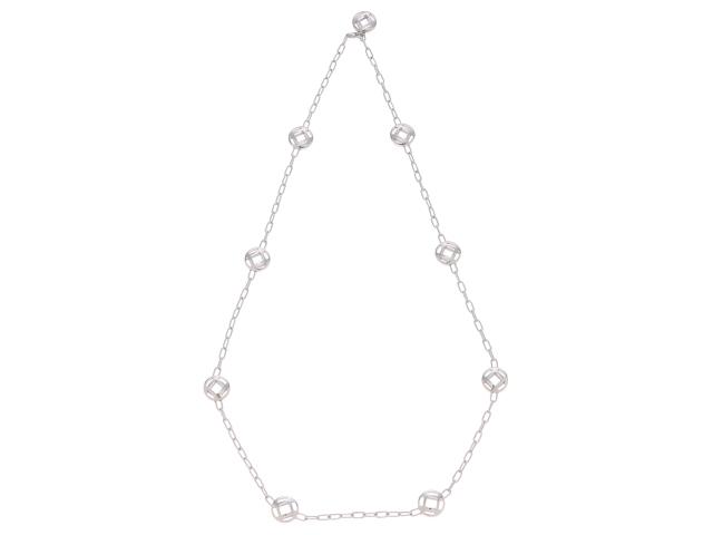 【送料無料】Cartier 貴金属・宝石 ネックレス パシャネックレス/ホワイトゴールド/30.5g【430】【中古】【大黒屋】
