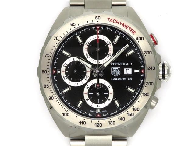 【送料無料】TAG HEUER タグホイヤー 時計 フォーミュラ1・キャリバー16 CAZ2010 SS ブラック オートマチック 200m防水 メンズ 2019年購入【432】【】【大黒屋】