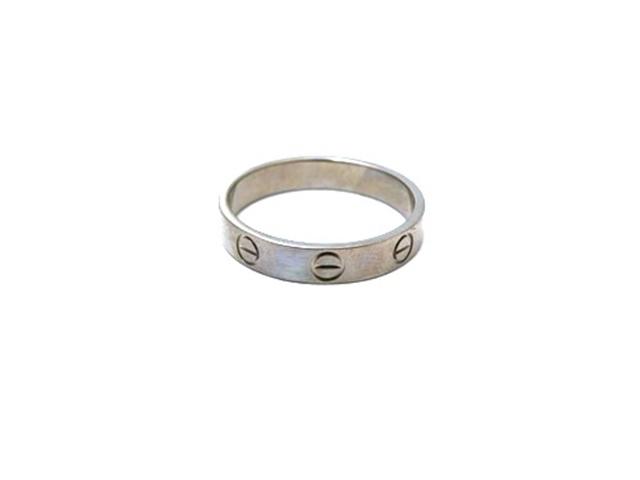 Cartier カルティエ 貴金属・宝石 ミニラブリング K18ホワイトゴールド 54号 WG ミニラブ 指輪 【472】【中古】【大黒屋】
