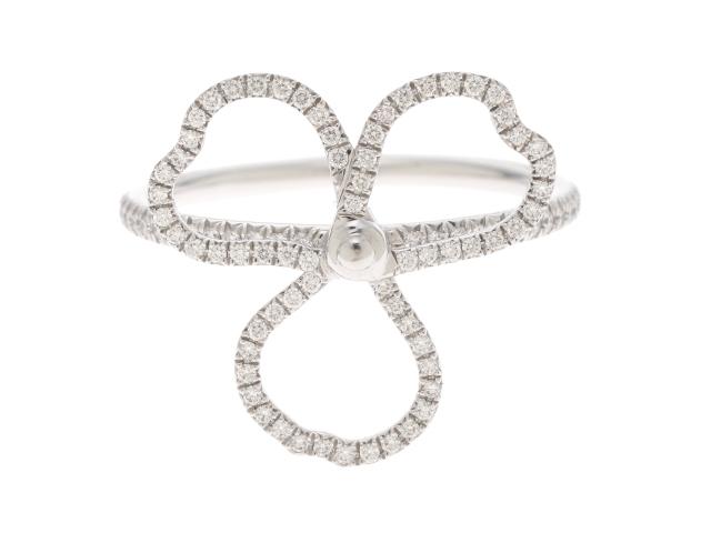 【送料無料】TIFFANY&CO ティファニー Pt950 ダイヤモンド ペーパーオープンフラワーリング 14号 【432】【中古】【大黒屋】