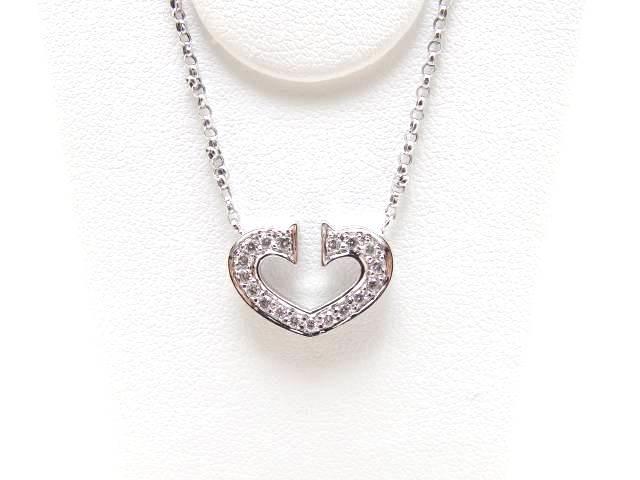 JEWELRY 貴金属・宝石 ネックレス K18WG ホワイトゴールド D ダイヤモンド 【432】【中古】【大黒屋】