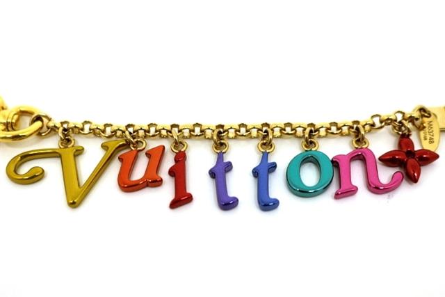 【送料別】LOUIS VUITTON ルイヴィトン キーリング ポルトクレ・シェンヌ ニューウェーブ 金メッキ M63748 マルチカラー【472】【中古】【大黒屋】