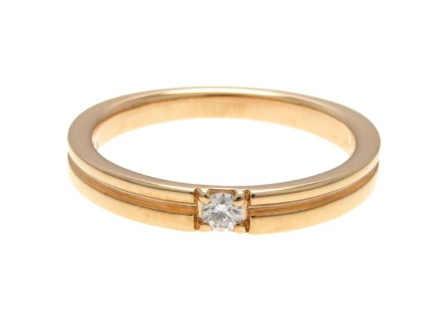4℃ ヨンドシー リング 指輪 K18PG ピンクゴールド 1P ダイヤモンド 8号 【474】【中古】【大黒屋】