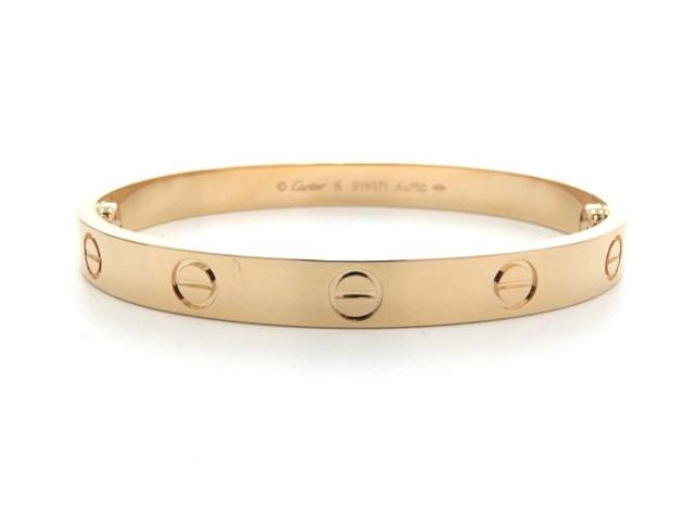 【送料無料】Cartier カルティエ ラブブレス ブレスレット K18 ピンクゴールド 16号 【460】【中古】【大黒屋】