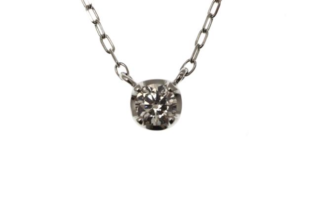 ノンブランドジュエリー ネックレス プラチナ ダイヤモンド 約1.3g 【433】【中古】【大黒屋】