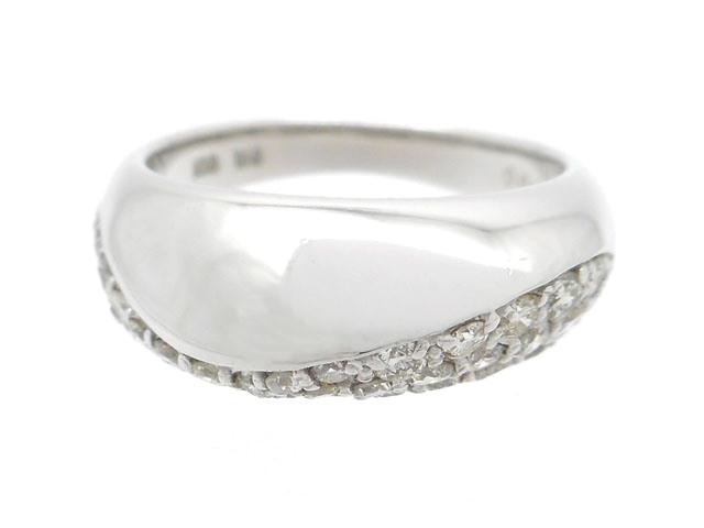 JEWELRY ジュエリー 貴金属・宝石 リング 指輪 K18WG ホワイトゴールド ダイヤモンド 0.63ct 4.9g #8 【200】【中古】【大黒屋】