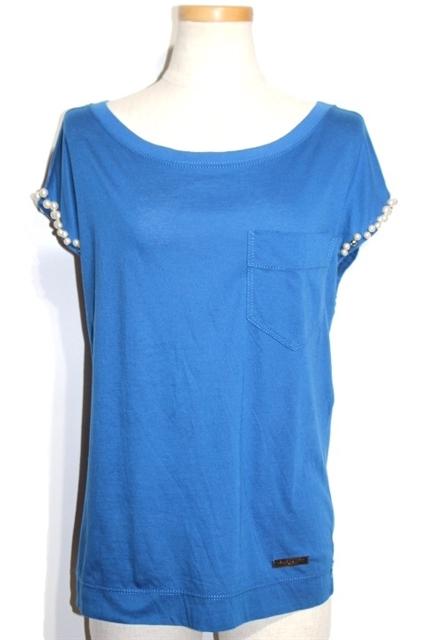 LOUIS VUITTON  ルイヴィトン Tシャツ コットン ブルー XS 【432】【中古】【大黒屋】