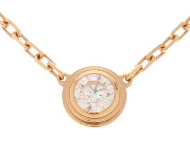 【送料無料】Cartier カルティエ ディアマンレジェLM ピンクゴールド ダイヤモンド1P ネックレス PG D 3.0g 箱・ギャラ付き【430】【中古】【大黒屋】