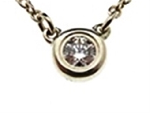 TIFFANY&CO ティファニー バイザヤードネックレス ダイヤモンド シルバー925 1.6g【430】【中古】【大黒屋】