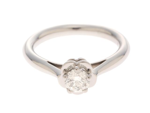 【送料無料】CHANEL シャネル カメリア リング 指輪 プラチナ ダイヤモンド 48号 【432】【中古】【大黒屋】