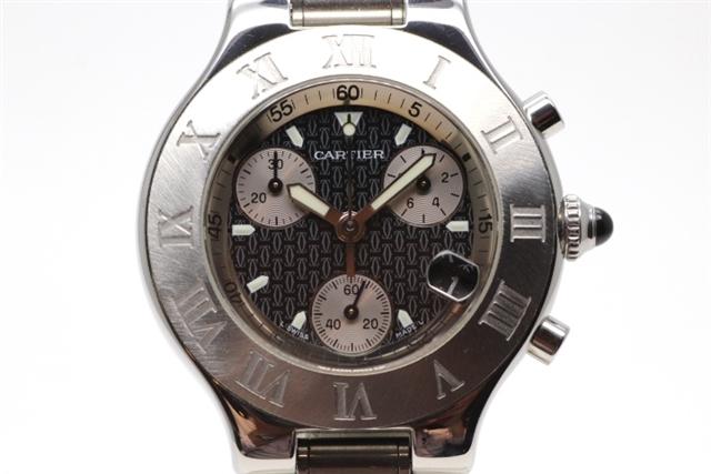 【送料無料】Cartier カルティエ 時計 クオーツ クロノスカフ W10172T2 ステンレススチール メンズ【472】【中古】【大黒屋】