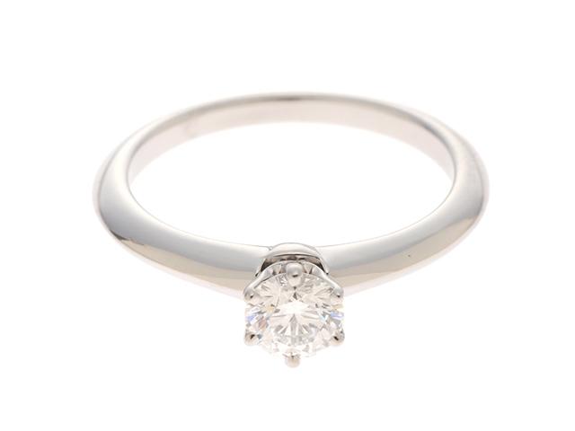 TIFFANY&CO ティファニー ダイヤモンドリング プラチナ950 ダイヤモンド0.35ct 8号 【436】【中古】【大黒屋】