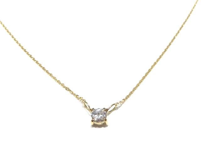 JEWELRY ネックレス 一粒ダイヤモンド K18YG D0.197ct 【205】【中古】【大黒屋】
